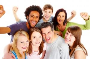 Grupp med människor